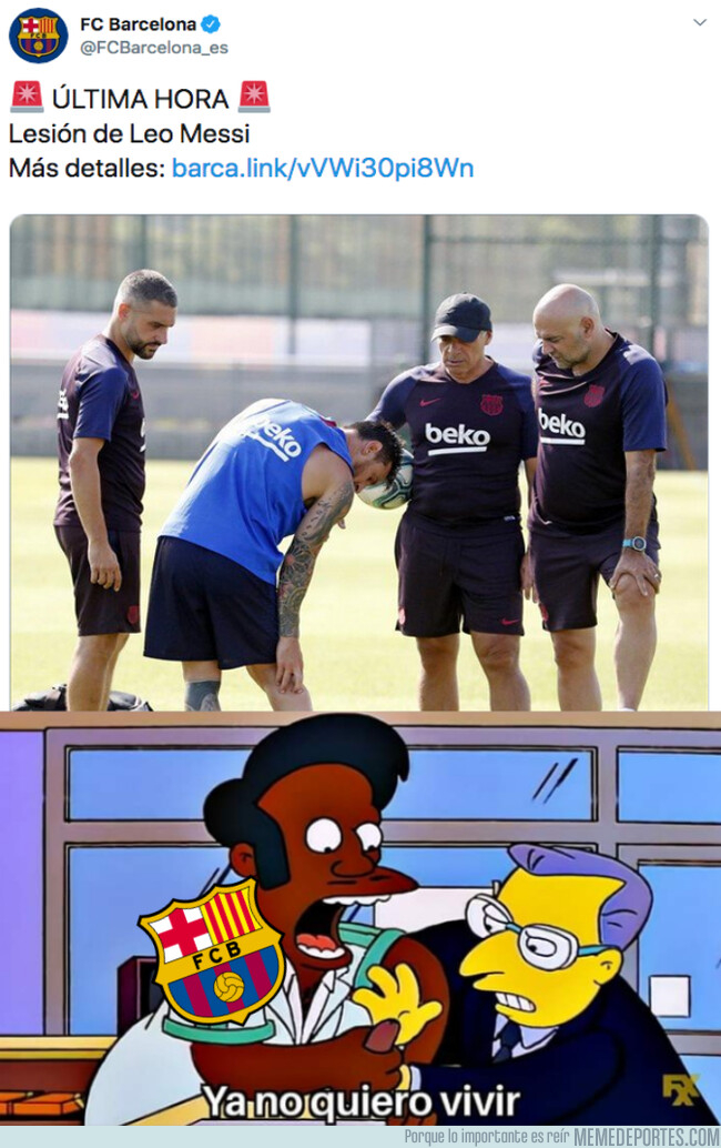1082811 - Messi podría perderse el estreno liguero