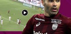 Enlace a El gran gol de Iniesta de penalti tras habérselo parado el portero
