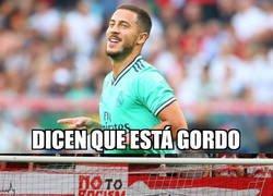 Enlace a Hazard se estrena como goleador blanco, y de qué manera