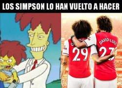Enlace a Los Simpson predijeron a David Luiz y Guendouzi