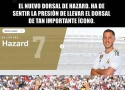 Enlace a Eden Hazard usará el dorsal 7