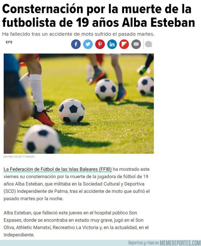 1083120 - Consternación por la muerte de la futbolista de 19 años Alba Esteban
