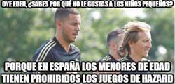 Enlace a Eden Hazard ya se está acostumbrando un poco a España