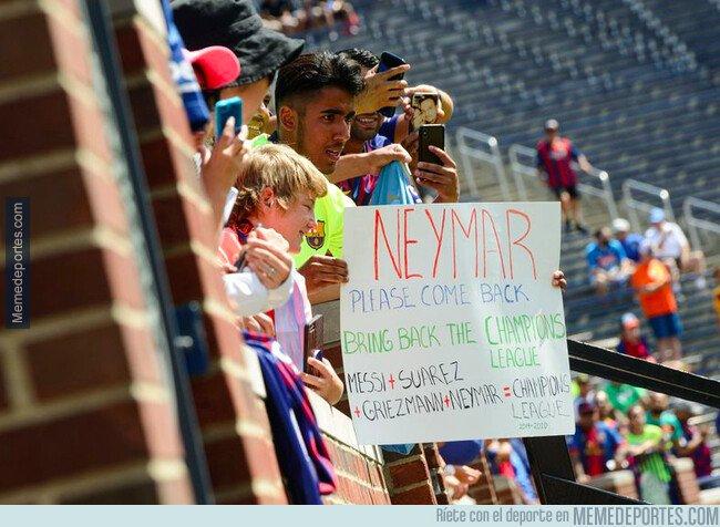 1083279 - Barcelonistas pidiendo la vuelta de Neymar. Quién lo hubiera dicho 2 años atrás