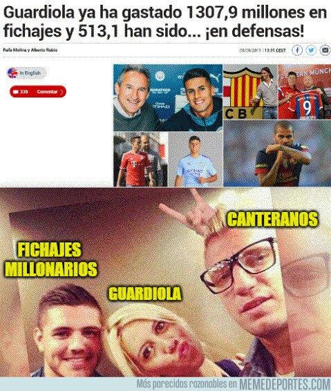 1083281 - ¡Guardiola ya ha gastado 1307,9 millones en fichajes!