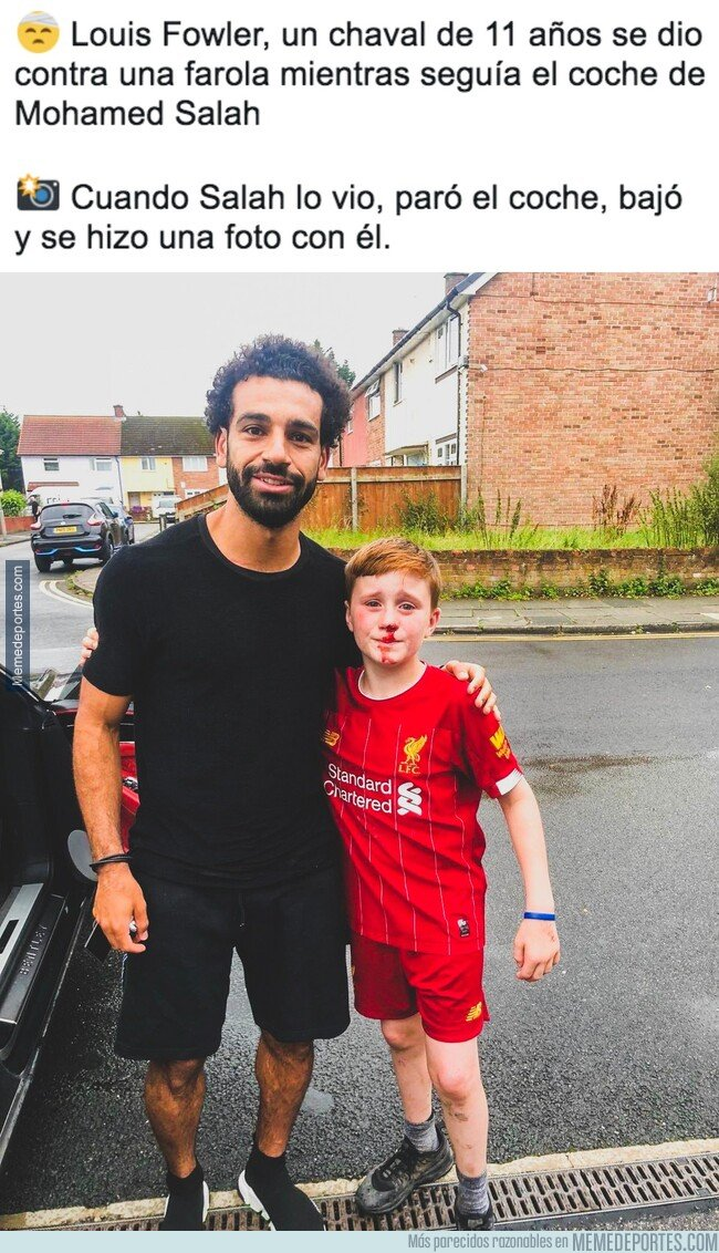 1083283 - Gran gesto de Salah, aunque le podía haber limpiado la sangre primero