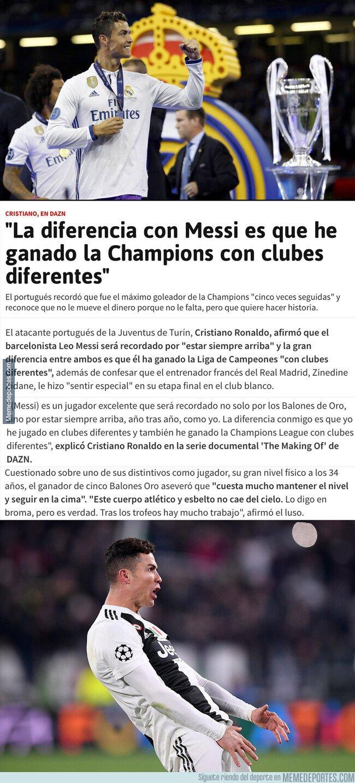 1083353 - La frase de Cristiano sobre su gran diferencia con Messi que va a dar mucho que hablar