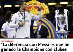 Enlace a La frase de Cristiano sobre su gran diferencia con Messi que va a dar mucho que hablar