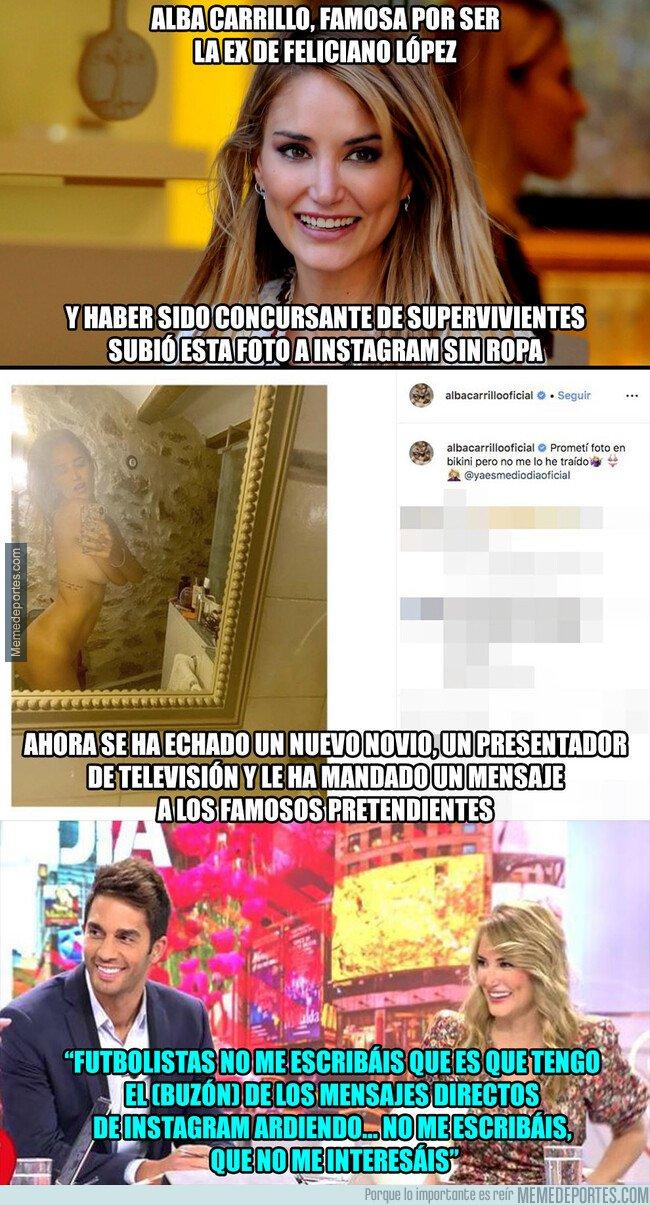 1083361 - Alba Carrillo sube esta foto totalmente desnuda a Instagram y le manda un mensaje a los futbolistas que la están escribiendo