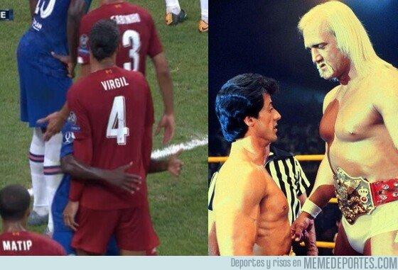 1083491 - Parecidos razonables entre Van Dijk y Kante y Hulk Holgan y Rocky (Stallone)