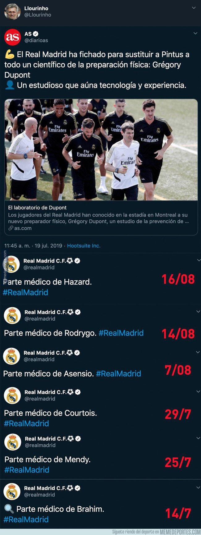 1083543 - Tremendo: el dato demoledor desde que Gregory Dupont es el preparador físico del Real Madrid que preocupa a los madridistas