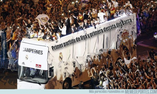 1083600 - Ya tienen algo que celebrar los madridistas con la primera derrota del Barça en su 1er partido de liga...