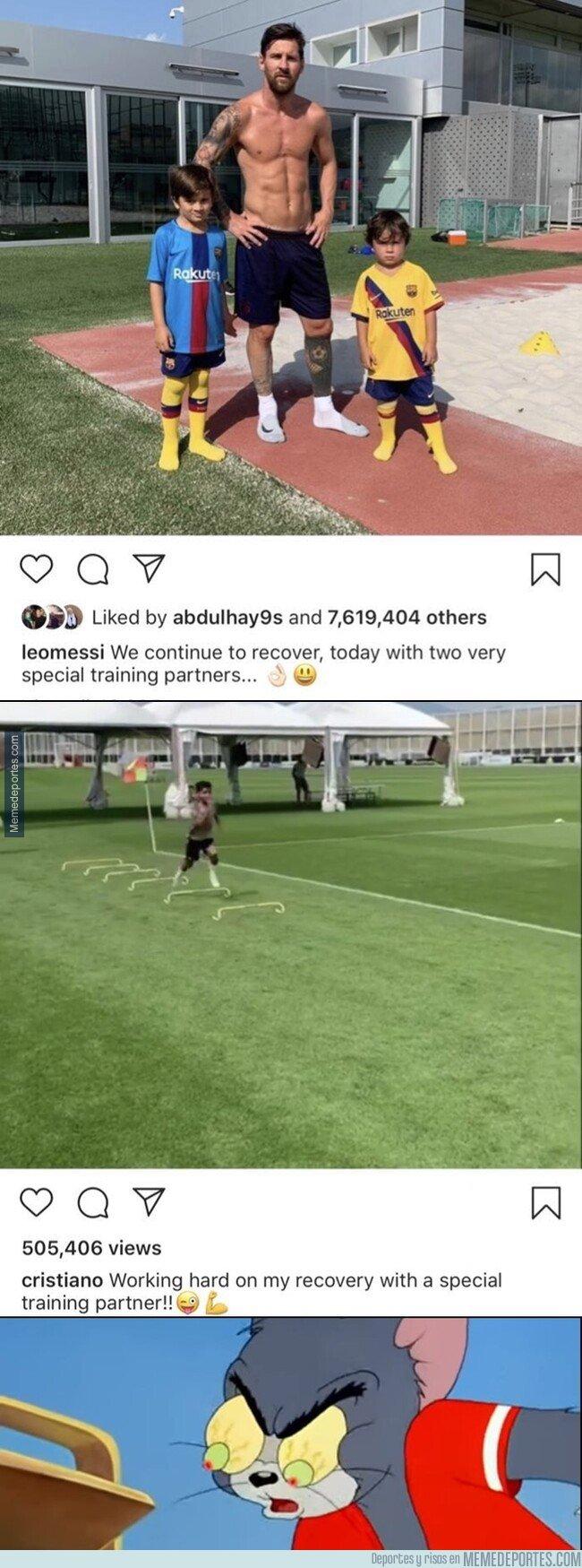 1083630 - ¿Copió Cristiano a Messi hasta en una publicación de Instagram? Incluso la descripción es idéntica.