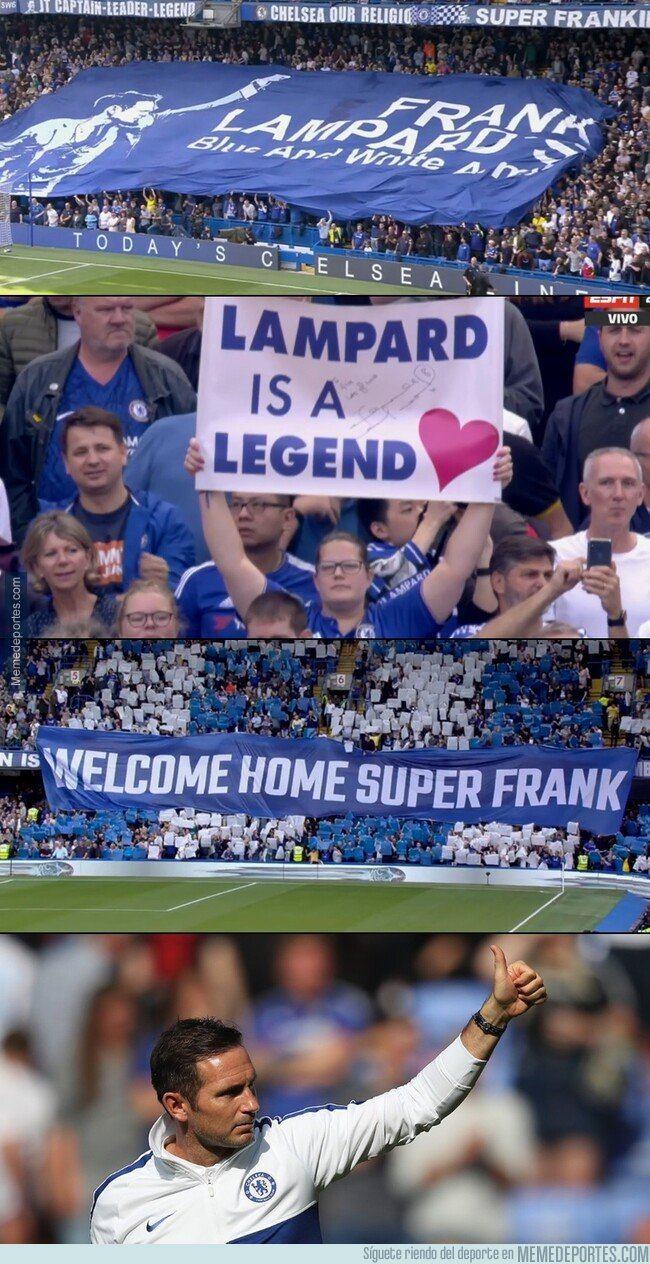 1083719 - El espectacular recibimiento de Lampard al Stamford Bridge.