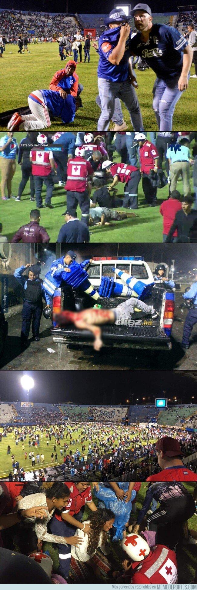 1083721 - No aprendemos. Un partido de fútbol en Honduras termina con 4 muertos y 8 heridos