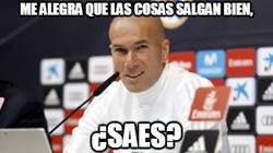 Enlace a Zidane viendo el partidazo de Reguilón con el Sevilla