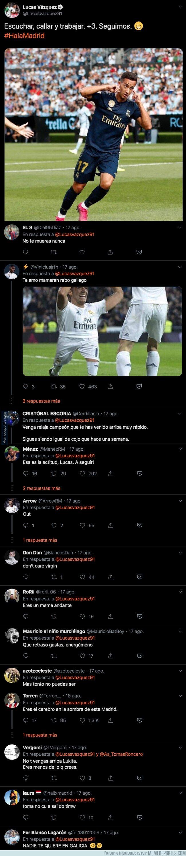 1083743 - Lucas Vázquez marca un gol, se lo dedica a Twitter callándoles la boca y todo el mundo le responde sin piedad