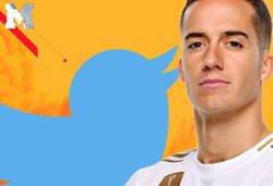 Enlace a Lucas Vázquez marca un gol, se lo dedica a Twitter callándoles la boca y todo el mundo le responde sin piedad
