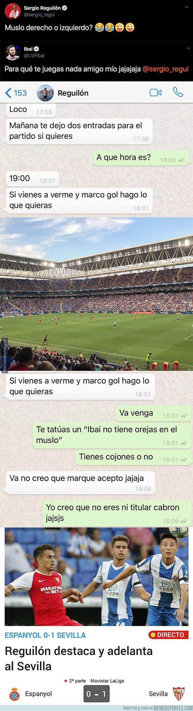 1083746 - Ibai Llanos desafía a Reguilón a marcar gol con el Sevilla y deberá hacer esto tras haber perdido la apuesta