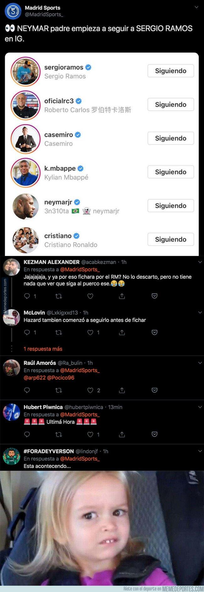 1083866 - El último follow que ha hecho Neymar Padre que ha encendido todas las las alarmas de los aficionados de este club