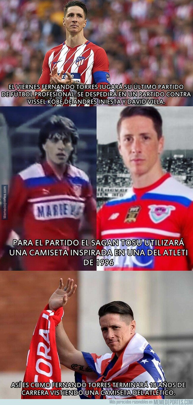 1083946 - Fernando Torres se retirará vistiendo la camiseta del colchonero. Mira cómo.
