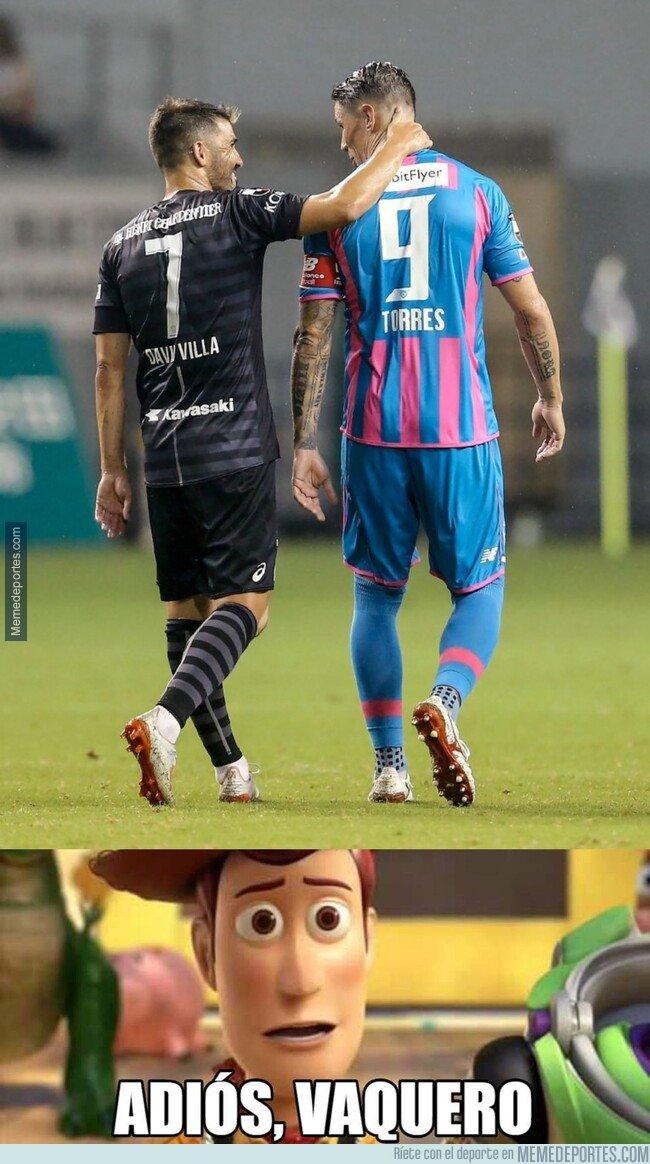 1084075 - Iniesta y Villa han estado en el último partido de Torres como profesional