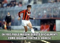Enlace a La coincidencia con los 2 debuts de Maldini