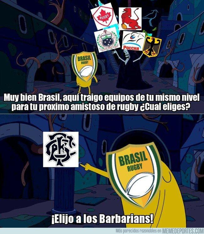 1084198 - El optimismo de los rugbiers brasileños es envidiable