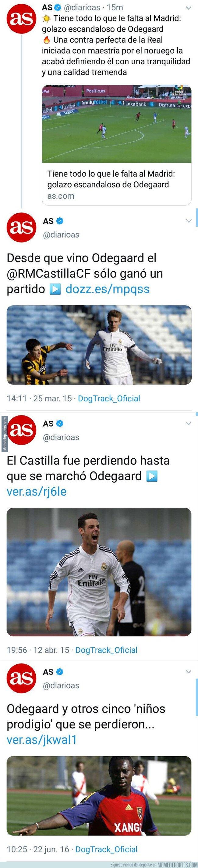 1084260 - El oportunismo increíble del diario AS escribiendo noticias de Odegaard cuando era jugador de la cantera y ahora que está en la Real Sociedad