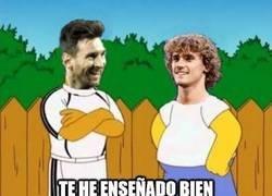 Enlace a Messi es el maestro favorito de Griezmann