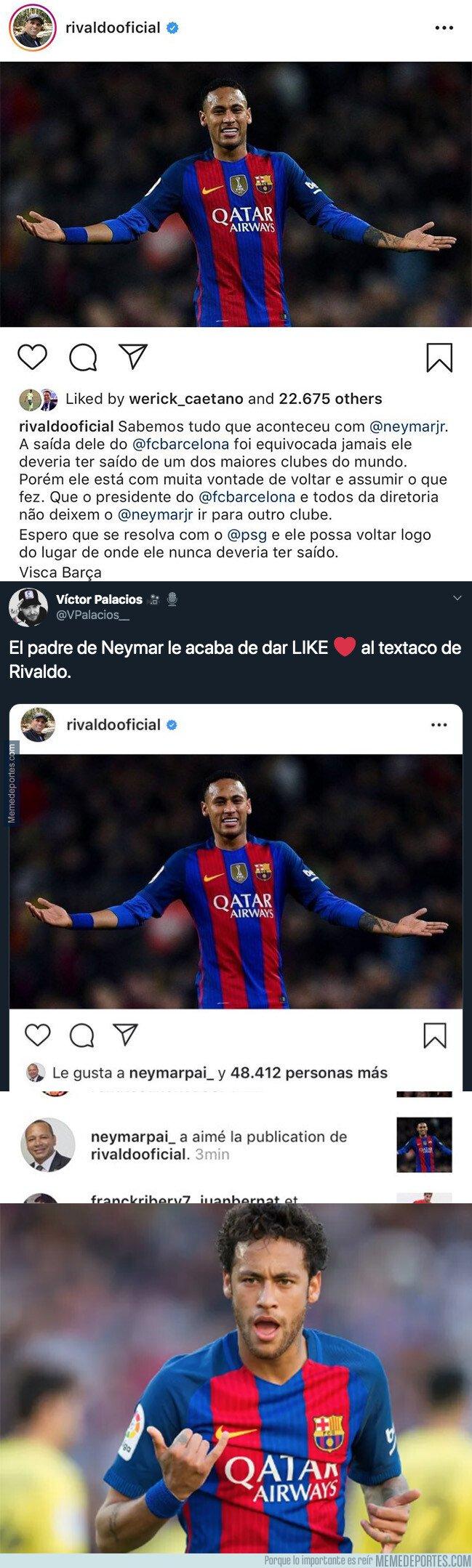 1084338 - El padre de Neymar acaba de darle 'me gusta' a esta publicación de Instagram y acaba de revolucionar todo internet