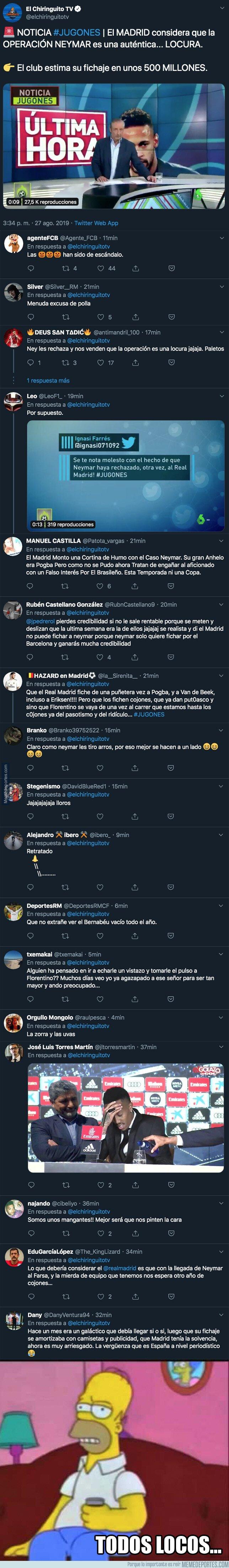 1084341 - La excusa que se ha inventado el Pedrerol para justificar la tercera vez que Neymar rechaza al Real Madrid