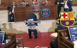 Enlace a Imágenes exclusivas de la negociación de hoy del Barça con el PSG por Neymar