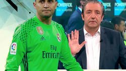 Enlace a Pedrerol carga contra Zidane por vender a Keylor Navas al PSG y todo el mundo le está diciendo lo mismo