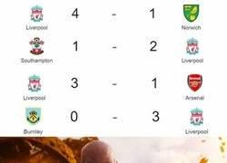 Enlace a Los hinchas del Liverpool viendo el arranque perfecto de su equipo