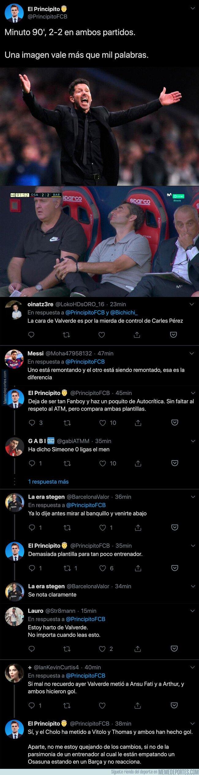 1084700 - La gran diferencia entre Valverde y el Cholo Simeone por este detalle que está dando la vuelta a todo internet