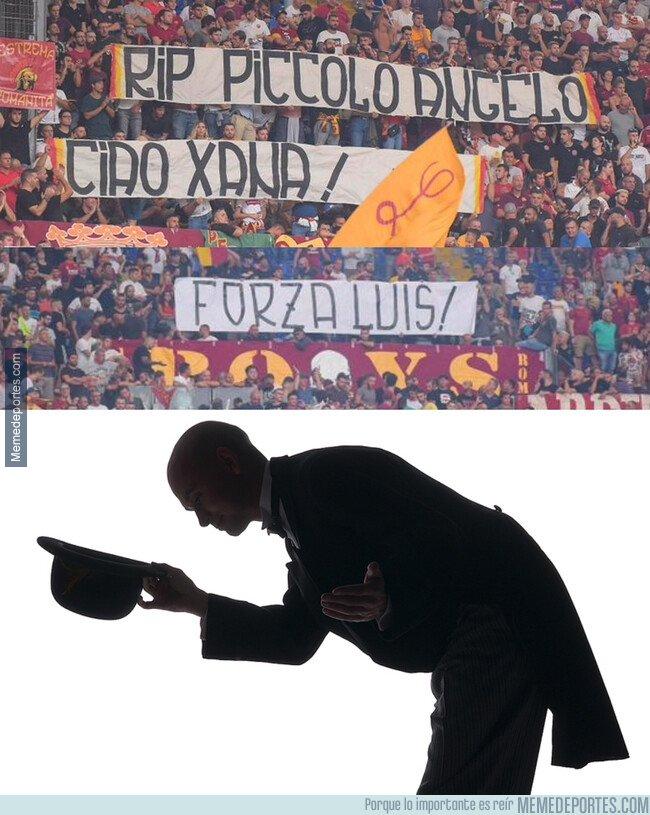 1084805 - Los fans de la Roma se acordaron de Luis Enrique y su familia en estos duros momentos