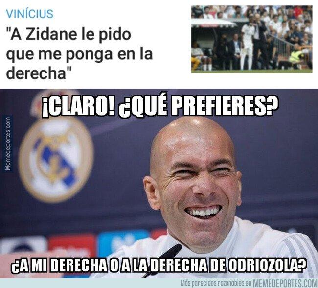1084894 - Con Zidane, Vinicius jugará de banquillo derecha