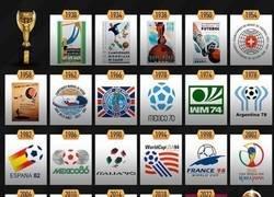 Enlace a Qatar 2022 ya tiene logo. Estos son los logos de los anteriores mundiales, por @goalglobal