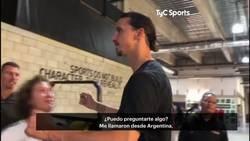 Enlace a Un programa argentino quería preguntarle algo a Zlatan Ibrahimovic y responde como solamente él podía hacer