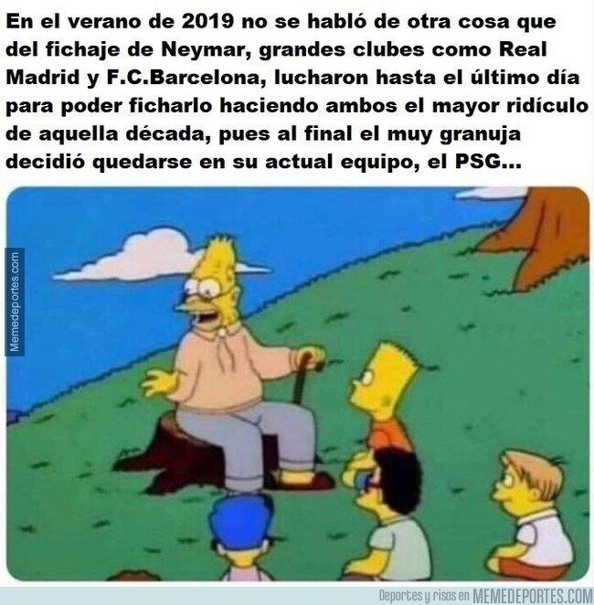 1084943 - Y así se enterarán las futuras generaciones del culebrón Neymar aquel verano de 2019...