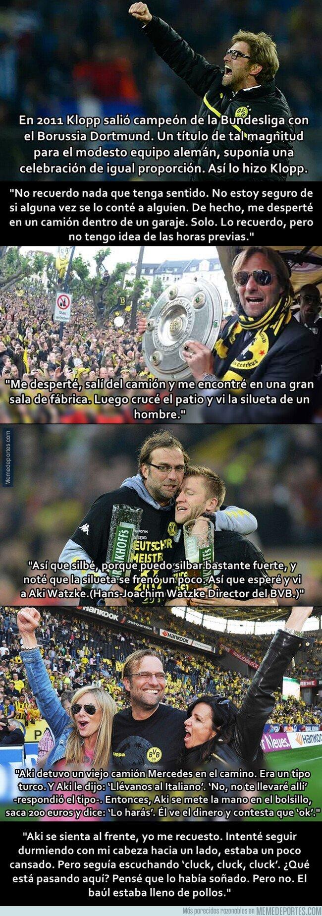1085096 - Resacón en Dortmund: La surreal historia de cómo Klopp se perdió mientras celebraba el título de liga en 2011