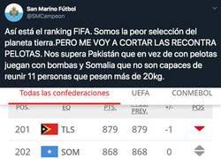 Enlace a La indignación de San Marino por estar en este puesto del Ranking FIFA con estas otras selecciones