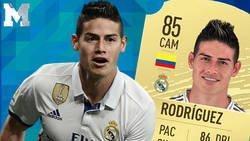 Enlace a Un aficionado del Real Madrid indignado preguntó a James a la salida del entrenamiento por su media del FIFA 20