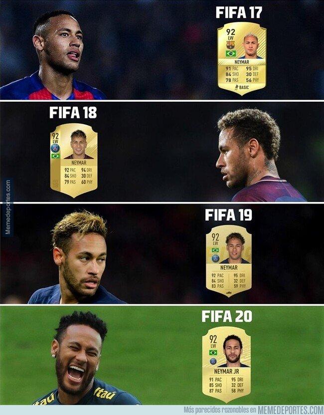 1085392 - Neymar lleva ya 4 años al hilo con la misma calificación el el FIFA.