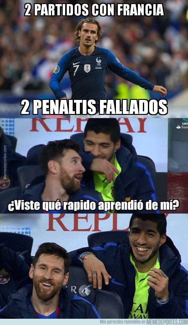 1085468 - Griezmann aprendió de Messi a chutar los penaltis