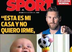 Enlace a Messi da una de cal y otra de arena