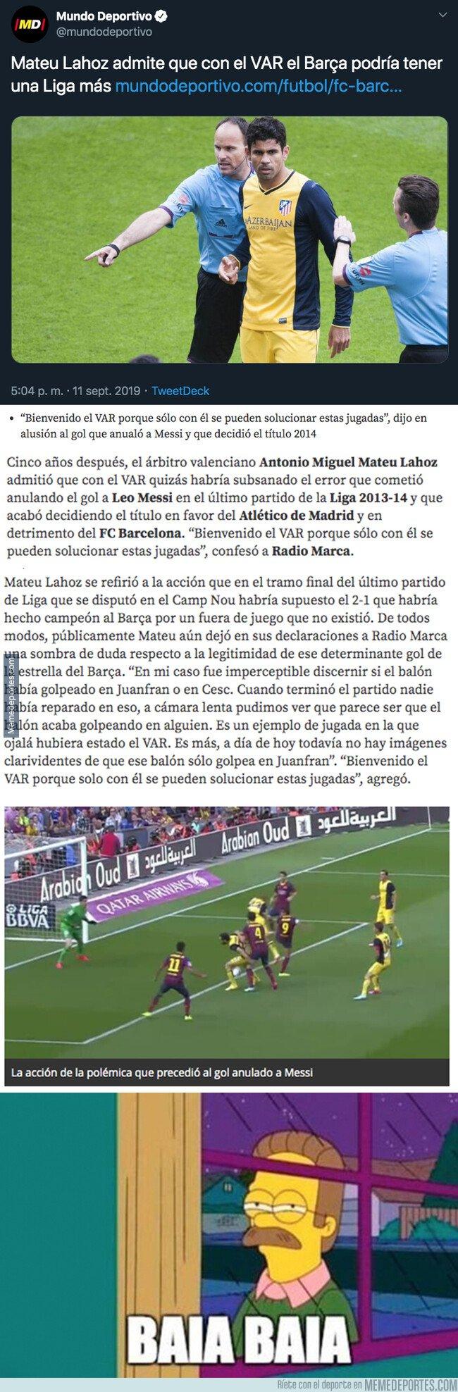 1085577 - Escándalo: Esto explica Mateu Lahoz sobre el título de Liga que ganó el Atlético de Madrid frente al Barça en la última jornada
