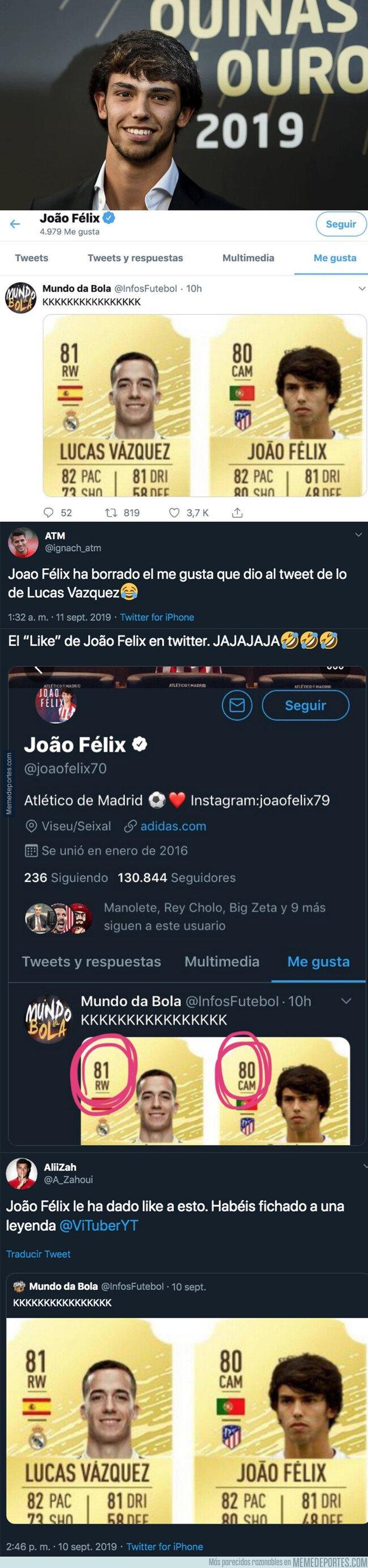 1085596 - El 'like' más polémico de Joao Felix en Twitter que ha revolucionado todo internet