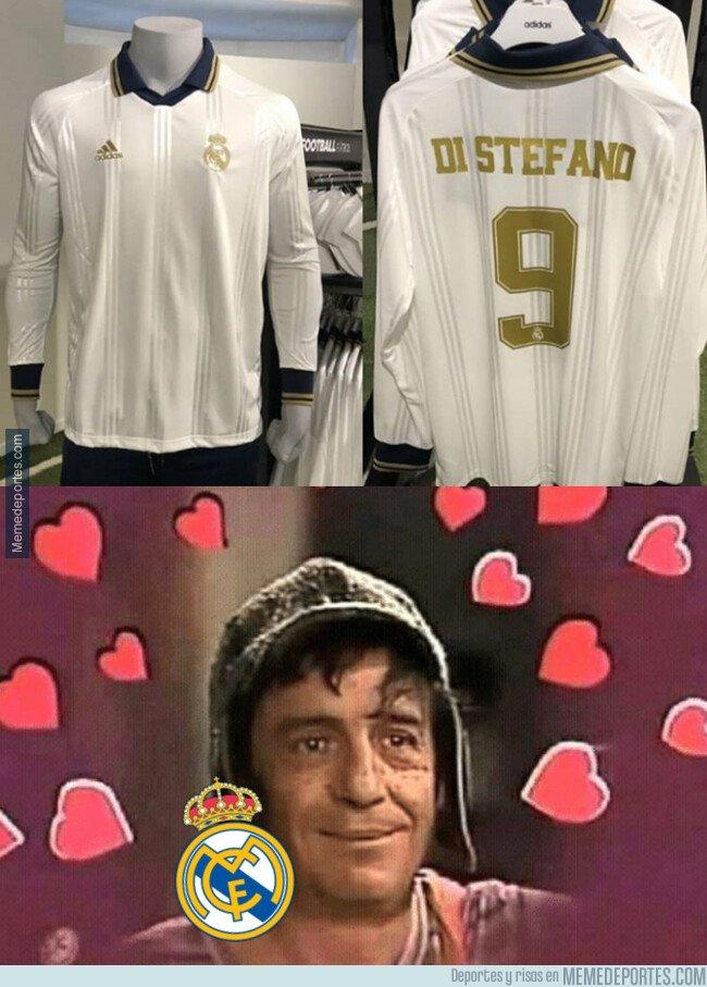 1085627 - La preciosa camiseta 'vintage' que el Madrid comercializará este año